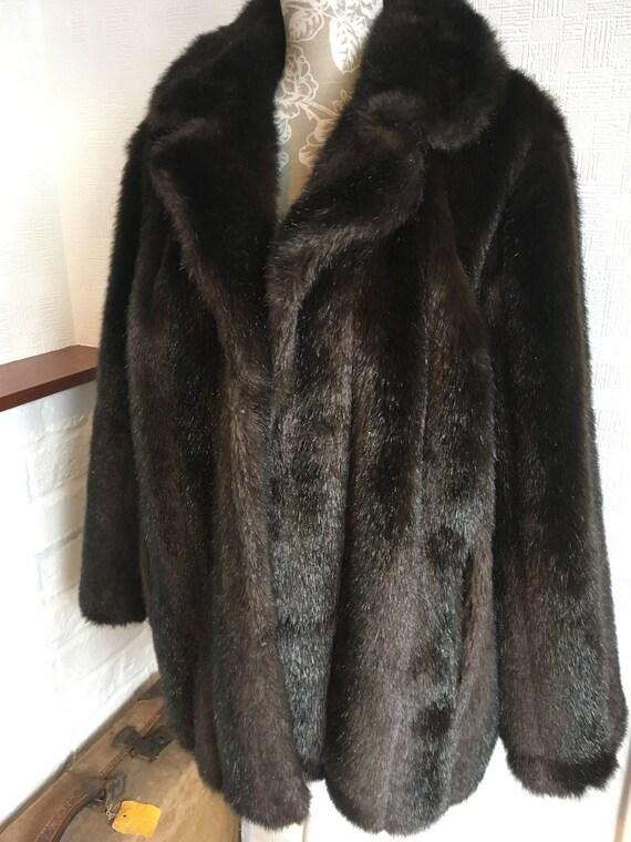 Women's coat/faux fur coat/vintage imitation fur/f