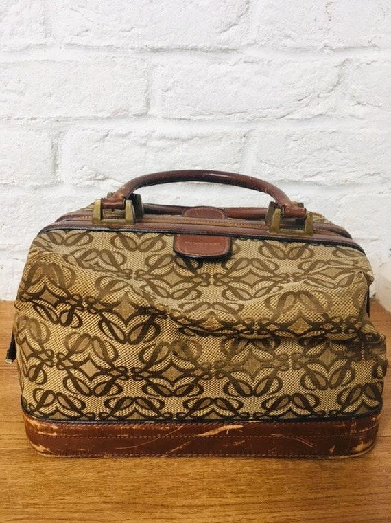 Loewe Monogrammed doctor's bag/Antique Loewe bag/l