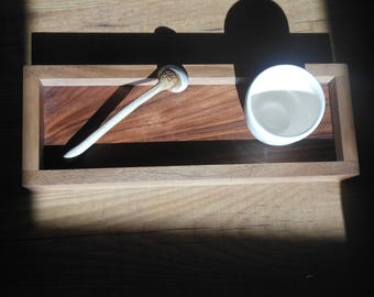 Wooden tray.    Handmade