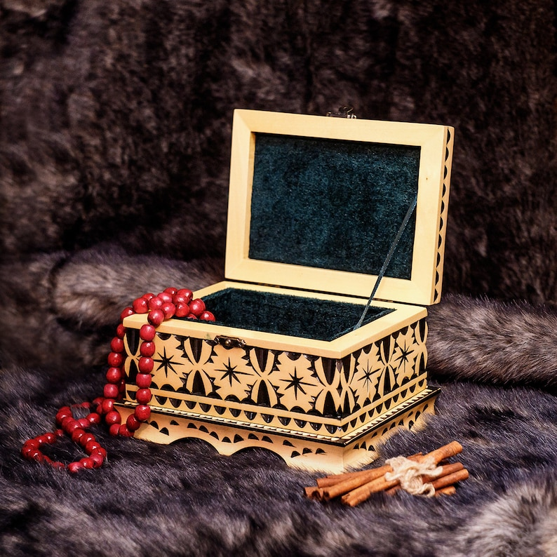 Gift for women for birthday Bride gift Jewelry handmade box and organizer Blended family gift, Engraved box Wedding gift