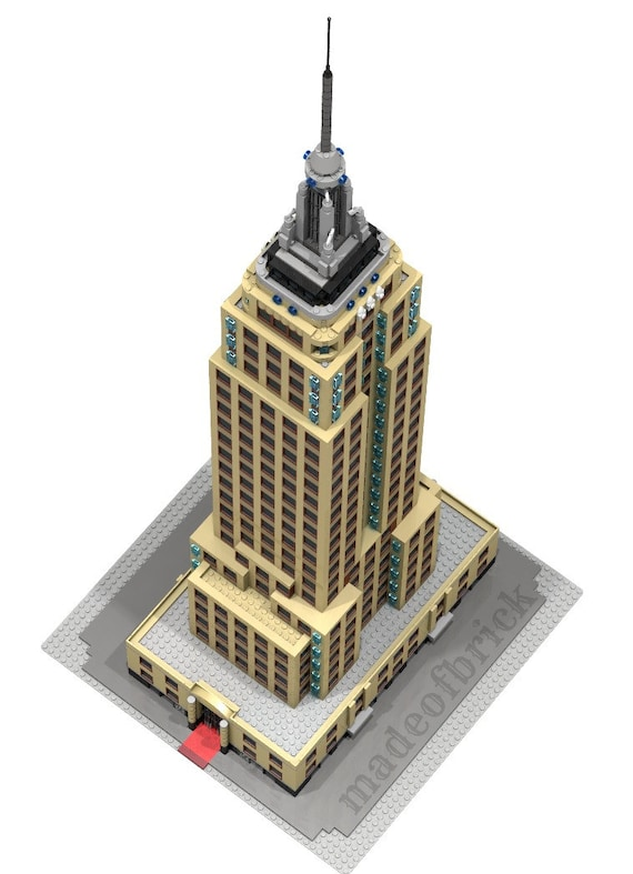 CUSTOM LEGO BUILDING Empire State Building  New York   Usa  (United States  of America)  Skyscraper  42 inches Height