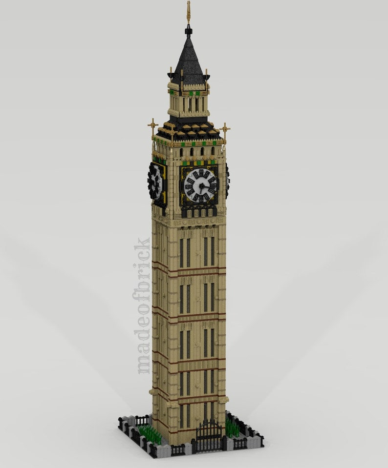 CUSTOM LEGO BUILDING Big Ben  London  United Kingdom  Westminster  Clock  tower  Size: 38 inches