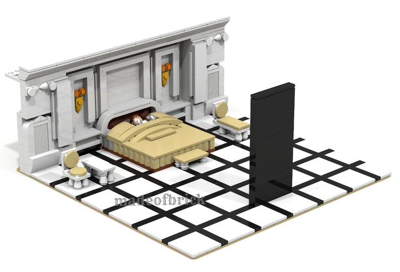 CUSTOM LEGO BUILDING  2001: A Space Odyssey  Scene from the famous movie by  Stanley Kubrick  Science fiction film
