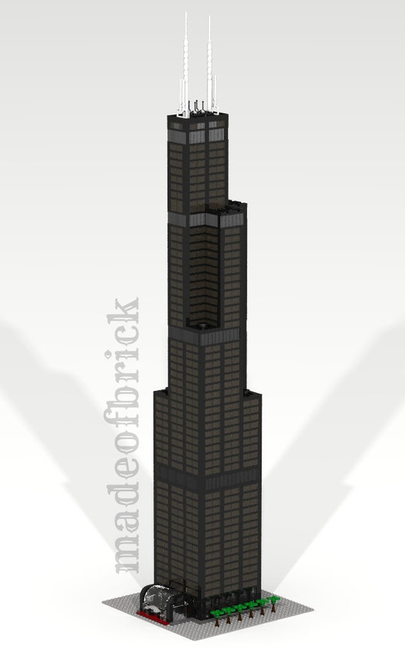 CUSTOM LEGO Gebäude Willis Tower Sears Tower Chicago. | Etsy