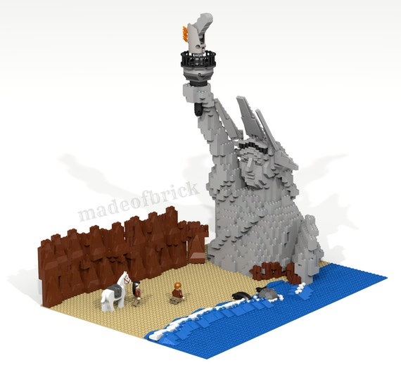 CUSTOM LEGO BUILDING  Planet of the Apes  Scene from the famous science  fiction movie  Franklin J  Schaffner  Charlton Heston