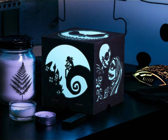 image 0 - Nightmare Before Christmas Blue Led Night Light Night Light Etsy