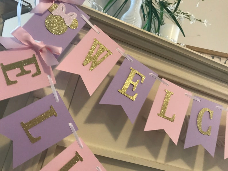 Minnie Mouse Baby Shower Minnie Mouse Baby Shower Decorations,Pink and Gold Minnie Mouse