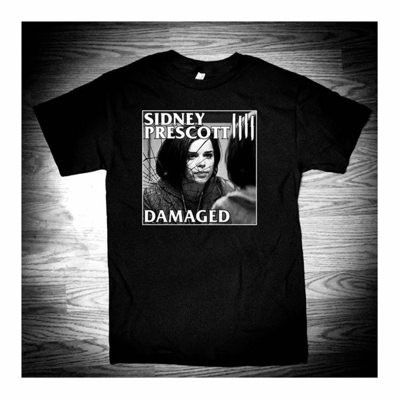 Damaged Sidney Prescott Hardcore Punk T-SHIRT image 0