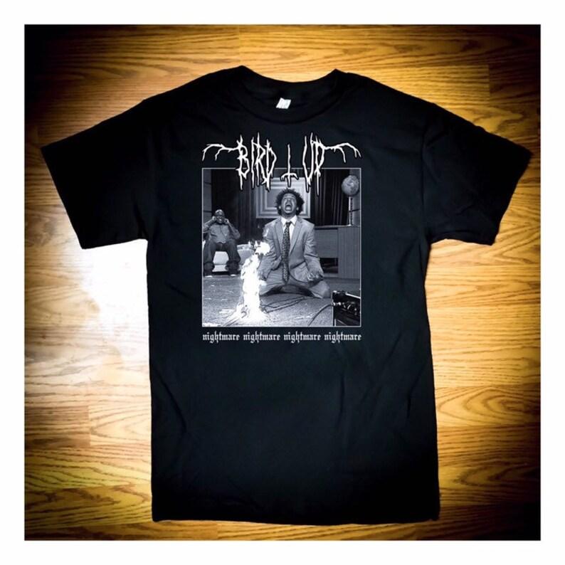 BIRD UP Nightmare Death Metal T-Shirt image 0