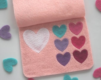 Valentine's Day gift for girls: cute and girly felt makeup set (without the mess)