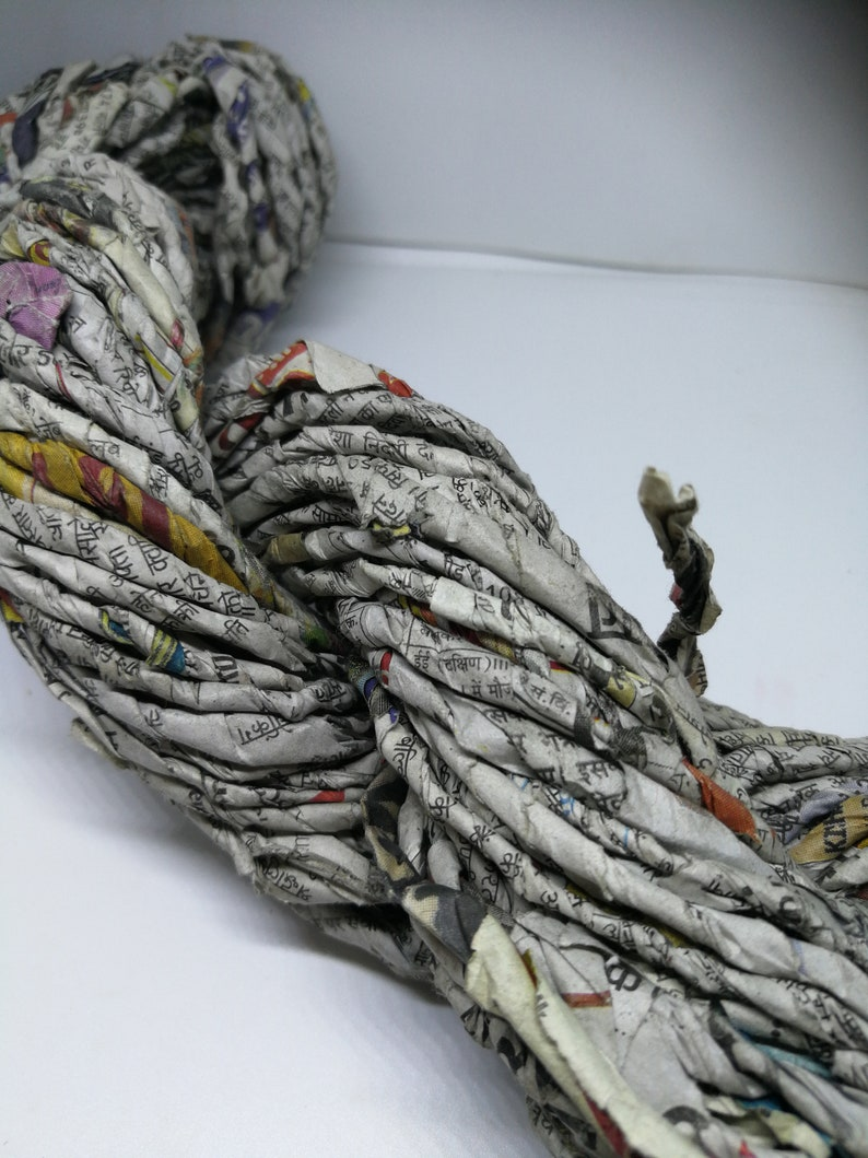 Newspaper Yarn  Upcycling at its finest image 0