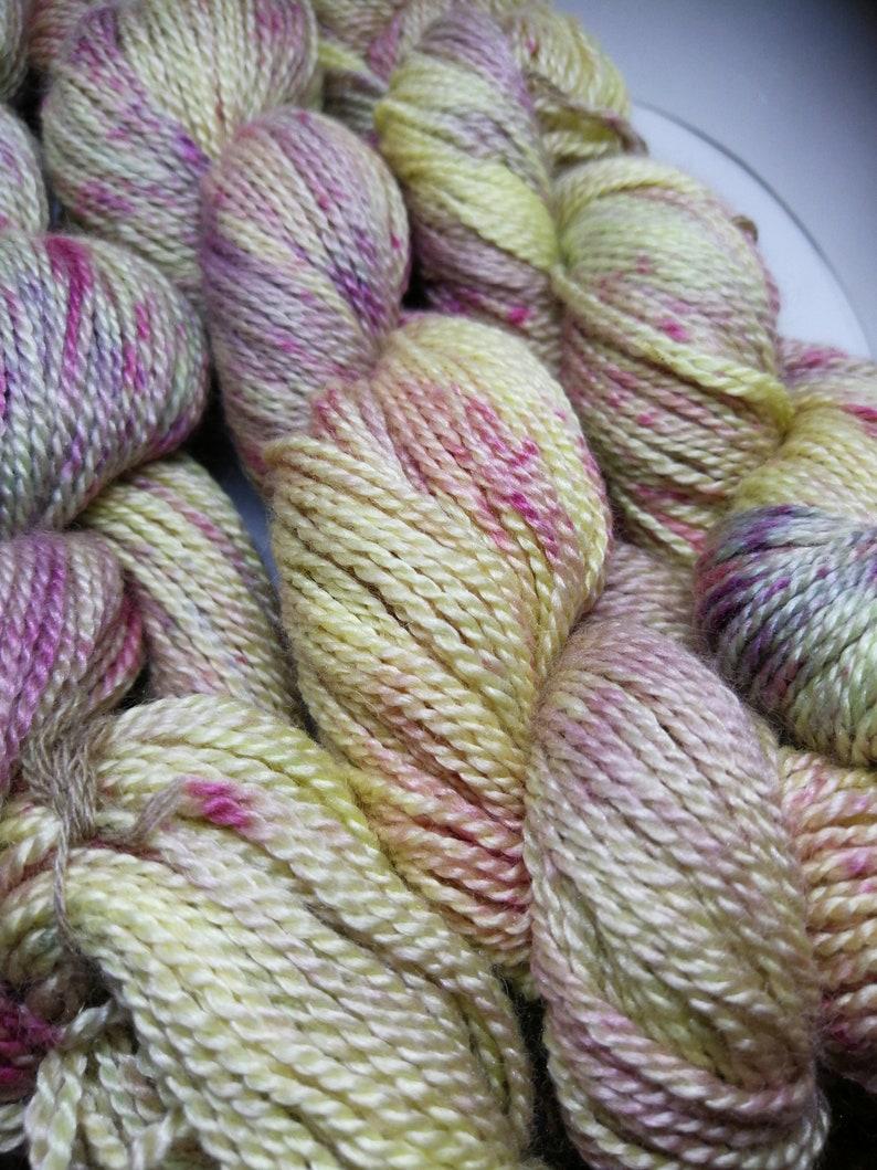 Silky finest blend of silk and Merino Vino spreckles image 0