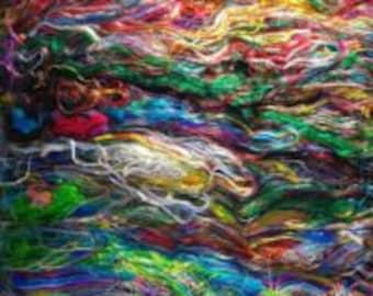 Recycled Sari Fiber Batt