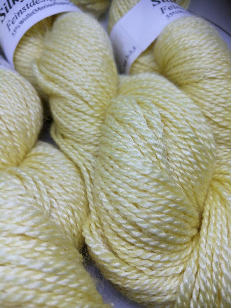 Silky finest blend of silk and merino egg shell image 0
