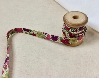 25 cm Liberty of London Poppy&Daisy purple Cotton Folded - Bias