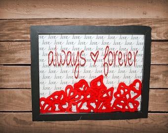 Valentine's Day Always - Forever shadow box