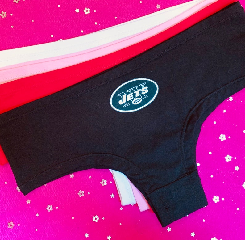 794a324f NY JETS Cheeky Women's Panties Panty Boyshort Underwear New York Sports NFL  Football Costume Lingerie Sexy Charm - With Fabric Logo