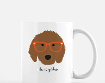 Personalized Goldendoodle Mug, Goldendoodle Coffee Mug, Goldendoodle Gifts, Dog Mug, Goldendoodle Glasses, Customized Goldendoodle Mug, Dog