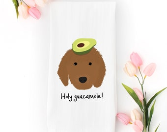 Personalized Goldendoodle Tea Towel (FREE SHIPPING), 100% Cotton flour sack towel, Goldendoodle Tea Towel, Goldendoodle Gifts, Dog Tea Towel