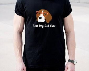 Personalized Beagle Short-Sleeve Unisex T-Shirt, Beagle T-shirt, Custom Dog T-shirt, Beagle Dad Dog T-shirt, Best Dog Dad Ever T-shirt