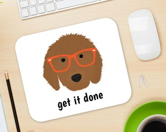 Personalized Goldendoole Mouse Pad, Goldendoodle Mouse Pad, Custom Dog Mouse Pad, Goldendoole Mousepads, Goldendoole, Goldendoole Mouse Pad