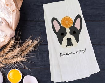 Personalized Boston Terrier Tea Towel (FREE SHIPPING), 100% Cotton Tea Towel, Boston Terrier Tea Towel, Boston Terrier Gift, Dog Tea Towel