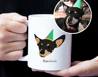 Custom Dog Mug, Custom Pet Mug, Custom Pet Drawing, Pet Art, Dog Mug, Personalized Dog Mug, Custom Dog Art, Custom Dog Illustration, Dog Mug