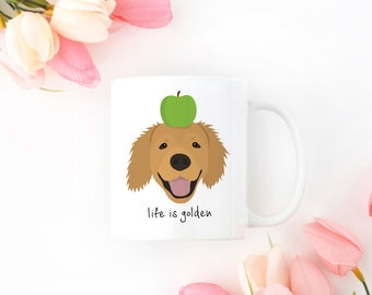 Personalized Golden Retriever Mug, Golden Retriever Coffee Mug, Golden Retriever Mug, Dog Mug, Golden Retriever Coffee Cup, Golden Retriever