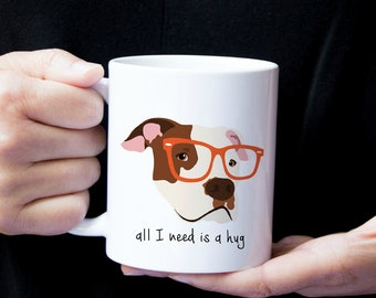Personalized Pit Bull Dog Mug, Pit Bull Coffee Mug, Pit Bull Dog Coffee Mug, Pit Bull Terrier Mug, Pit Bull Coffee Cup, Dog, Pit Bull Gift
