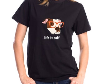 Personalized Pit Bull Short-Sleeve Unisex T-Shirt, Pit Bull T-shirt, Custom Dog T-shirt, Pit Bull, Dog T-shirt, Best Dog Mom Ever T-shirt