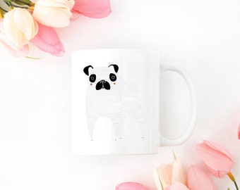 Personalized Pug Mug, Pug Coffee Mug, Custom Pug Mug, Customized Pug Mug, Dog Mug, Pug, Pug Me Mug, Pug Cup, Personalized Pug Gift, Pug Mug