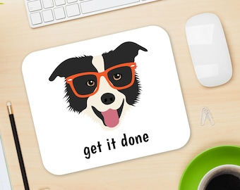 Personalized Border Collie Mouse Pad, Border Collie Mouse Pad, Custom Dog Mouse Pad, Border Collie Mousepads, Border Collie Mouse Pad, Dog