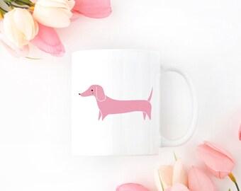 Personalized Dachshund Mug, Dachshund Coffee Mug, Custom Dachshund Mug, Customized Dachshund Mug, Dog Mug, Dachshund Gift, Dachshund Mug