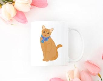 Personalized Orange Tabby Cat Mug, Orange Tabby Cat Coffee Mug, Cat Mug, Orange Tabby Cat Coffee Cup, Orange Cat Cup, Cat Coffee Mug, Cats