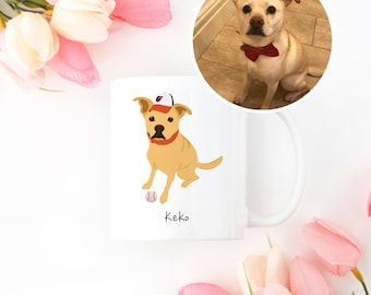 Custom Dog Mug, Custom Pet Mug, Custom Pet Drawing, Pet Portrait, Dog Mug, Personalized Dog Mug, Custom Dog Illustration, Custom Dog Mug