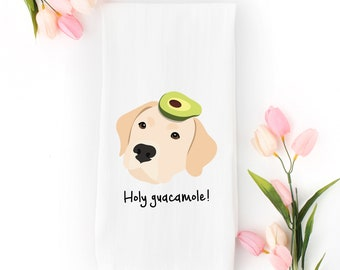 Personalized Labrador Retriever Tea Towel (FREE SHIPPING), 100% Cotton flour sack towel, Lab Tea Towel, Lab Gifts, Yellow Lab Tea Towel, Dog