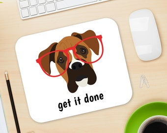 Personalized Boxer Mouse Pad, Boxer Mouse Pad, Custom Dog Mouse Pad, Boxer Mousepads, Boxer Gifts, Boxer Desk Decor, Boxer, Boxer Mouse Pad