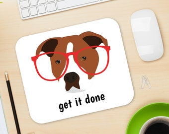 Personalized Staffordshire Bull Terrier Mouse Pad, Staffy Mouse Pad, Custom Dog Mouse Pad, Staffy Mousepads, Staffy Gifts, Staffy Mouse Pad