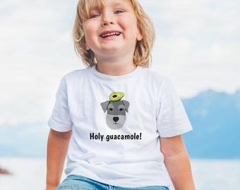 Personalized Schnauzer Toddler T-shirt, Schnauzer Toddler Tee, Custom Schnauzer T-shirt for Kids, Toddler Dog Tee, Dog, Schnauzer Kids Tee