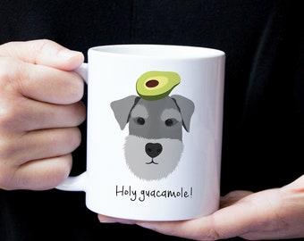 Personalized Schnauzer Mug, Schnauzer Coffee Mug, Schnauzer Mug, Dog Mug, Gray Schnauzer Mug, Schnauzer Coffee Cup, Gray Schnauzer Gift