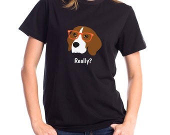 Personalized Beagle Short-Sleeve Unisex T-Shirt, Beagle T-shirt, Custom Dog T-shirt, Beagle Mom T-shirt, Dog Mom, Best Dog Mom Ever T-shirt