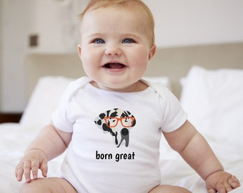 Personalized Great Dane Baby One-piece, Great Dane Baby Bodysuit, Custom Dog Bodysuit, Custom Great Dane Bodysuit, Dog  Baby Bodysuit, Baby