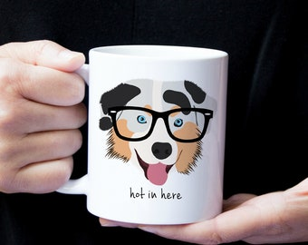 Personalized Australian Shepherd Mug, Australian Shepherd Coffee Mug, Australian Shepherd Mug, Dog Mug, Australian Shepherd Coffee Cup,Dog