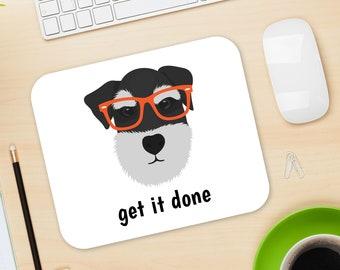 Personalized Schnauzer Mouse Pad, Schnauzer Mouse Pad, Custom Dog Mouse Pad, Schnauzer Mousepads, Dog, Schnauzer Gifts, Schnauzer Mouse Pad