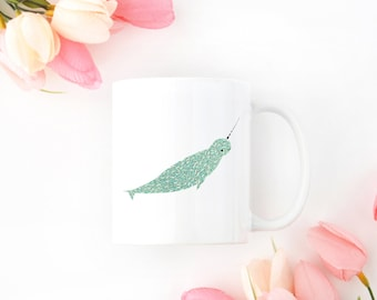 Personalized Narwhal Mug, Customized Narwhal Mug, Narwhal Mugs, Narwhal Cup, Customized Narwhal Gifts,Narwhal Lover Gift, Narwhal Coffee Mug