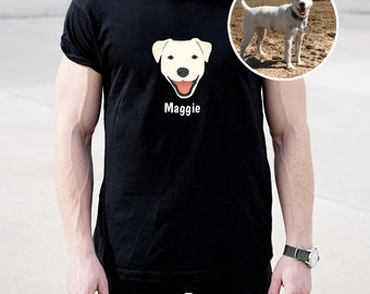 Custom Dog Short-Sleeve Unisex T-Shirt, Customized Dog T-shirt, Pet Portrait Design T-shirt, Custom Dog Tee, Dog, Best Dog Dad Ever T-shirt