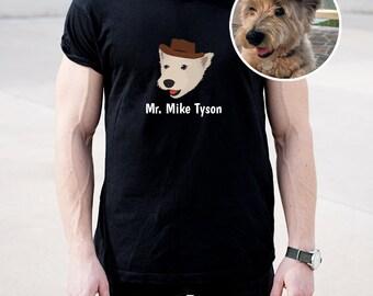 Custom Dog Short-Sleeve Unisex T-Shirt, Customized Dog T-shirt, Pet Portrait Design T-shirt, Custom Dog Tee, Dog, Best Dog Dad Ever T-shirt