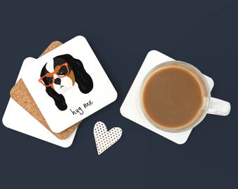 Personalized Cavalier King Charles Spaniel Coaster, Cavalier King Charles, Dog Coasters, Dog Gift,Cavalier Gift, Cavalier Coaster (Set of 2)