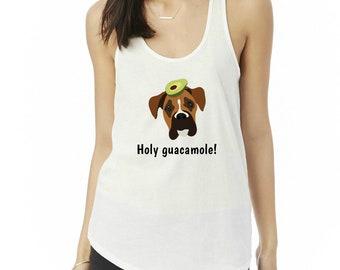 Personalized Boxer Tank Top, Ladies' Shirttail Tank, Custom Dog Tank Top, Dog Tank Top for Women, Dog, Boxer Mom Tank Top, Boxer Tank Top