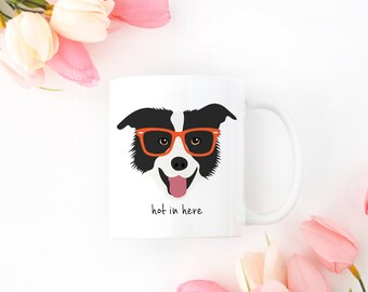 Personalized Border Collie Mug, Border Collie Coffee Mug, Border Collie Coffee Cup, Border Collie Cup, Border Collie Gift, Border Collie Mug